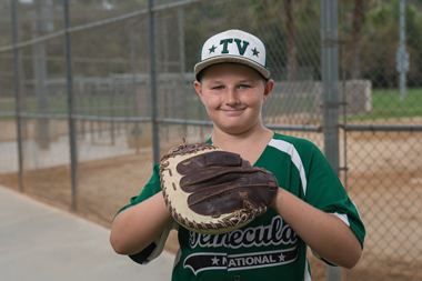 Drafted this year by the Temecula Valley All-Stars, Elijah was back on the field just three weeks after the accident.