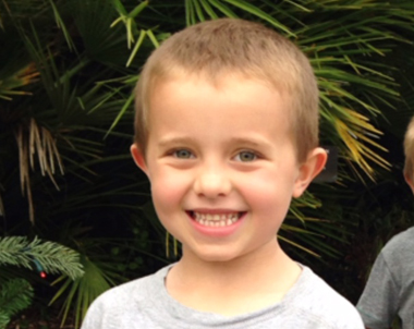 At the age of 2, Lucas was diagnosed with pleuropulmonary blastoma, a rare childhood lung cancer. Today, Lucas is 5-years-old and remains cancer-free.