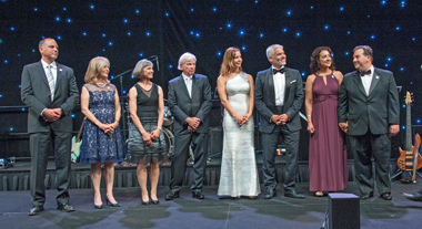 2016 Miracle Makers Gala co-chairs: Julie and George Bronstein, Kristin and Gary Gist, Cynthia and Ariel Ortiz, MD, and Annie and Joe Strazzeri, Esq.