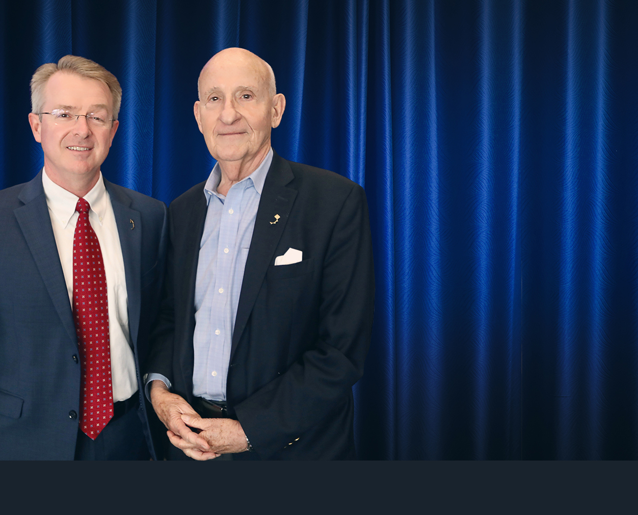 Photo of Patrick Frias, MD, Rady Children's CEO, and Ernest Rady